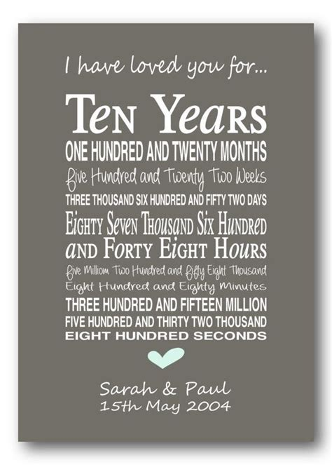 10th wedding anniversary gifts modern 25 unique 10th anniversary gifts ideas on pinterest