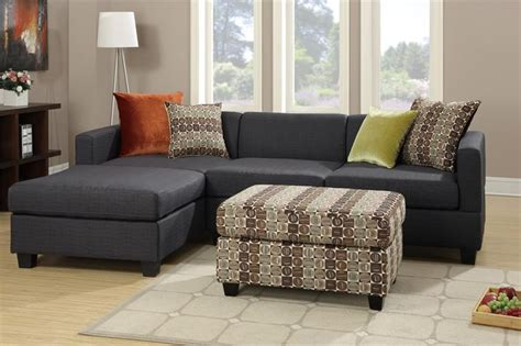 2 Piece Sectional Sofas Keegan 90 2 Piece Fabric Sectional