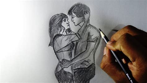 hd lovers pencil images pencil sketch of romantic couple love new hd