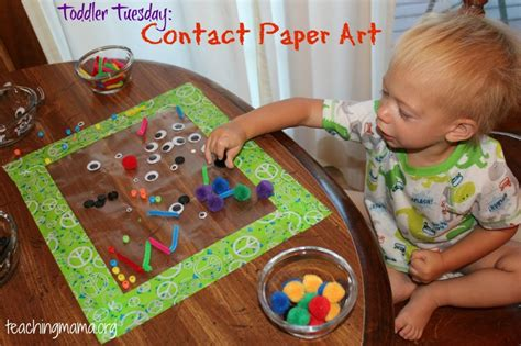 Contact Paper Craft Ideas - 20 ways to keep toddlers busy