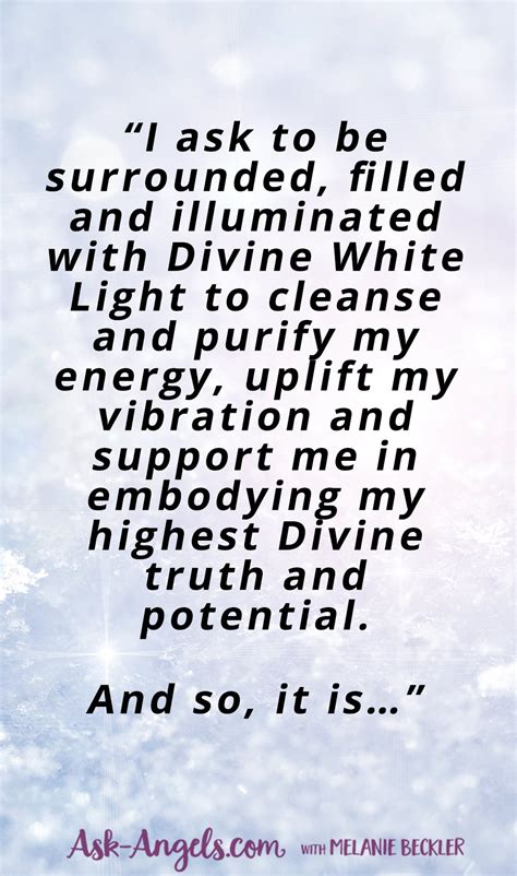 White Light Protection Prayer Cleanse Protect And