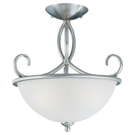 Seagull Light Fixtures Sea Gull Lighting Pemberton 3 Light Semi Brushed Nickel Flush Fixture 75075 962 The Home Depot