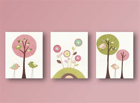 Nursery Wall Decoration Baby Room Nursery Decor Birds Baby Nursery Wall Nursery Room Tree