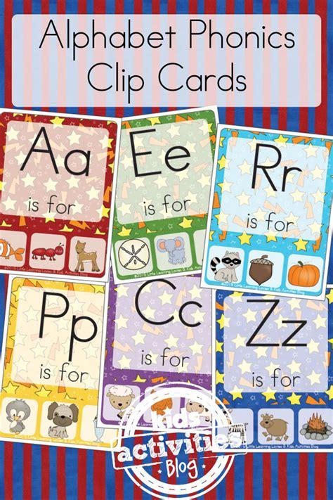 printable phonics letters free kids printable alphabet phonics clip cards