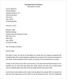 customer contract template contract termination letter template 17 free sle