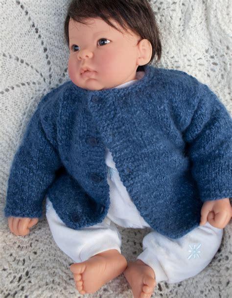 knit boy boy blue angora baby cardigan nancy elizabeth designs