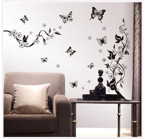 Wallpaper Sticker 110 115 110cm flower vine butterfly wall stickers decals 3d wallpaper house decoration product