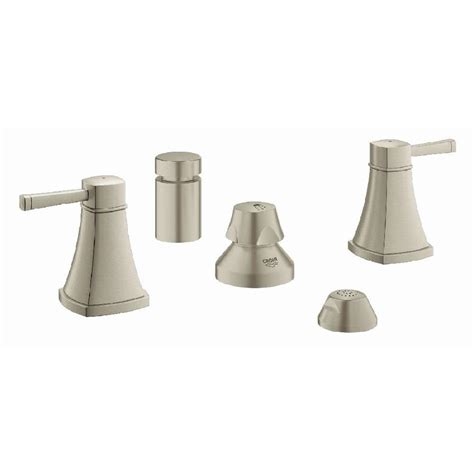 shop grohe grandera brushed nickel infinity 1 handle freestanding bathtub faucet at lowes com shop grohe grandera brushed nickel infinity vertical spray
