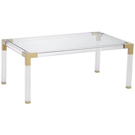 Clear Acrylic Coffee Table by Rectangle Clear Acrylic Coffee Table With Gold
