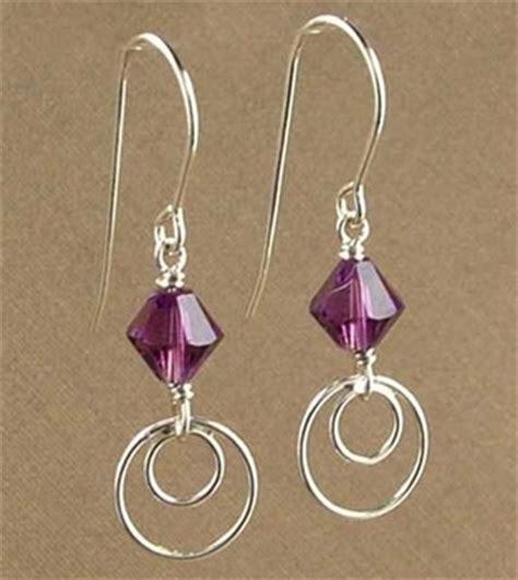 simply modern amethyst earrings jewelry design ideas