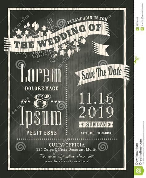 vintage chalkboard wedding invitation card background
