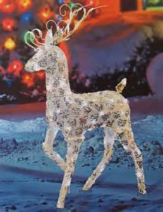 outdoor lighted reindeer decoration 48 quot prancing reindeer led lighted yard ebay