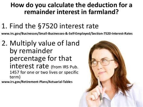 section 7520 interest rates gifts of remainder interests in homes and farms
