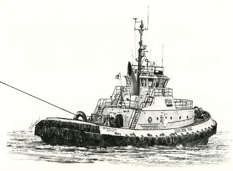 tugboat drawing tugboat arthur foss drawing by james williamson