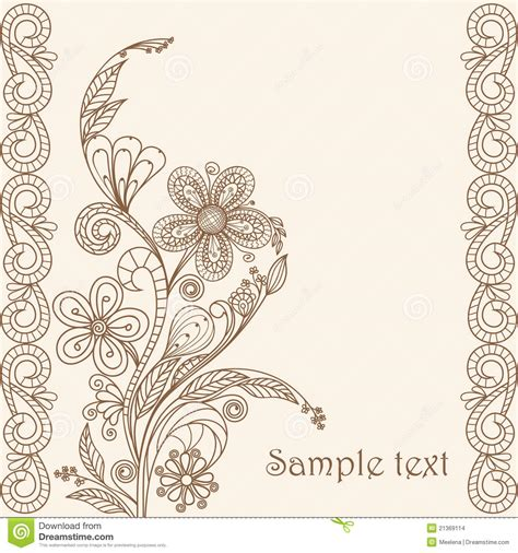 floral pattern design drawing hand drawing floral pattern stock vector image 21369114