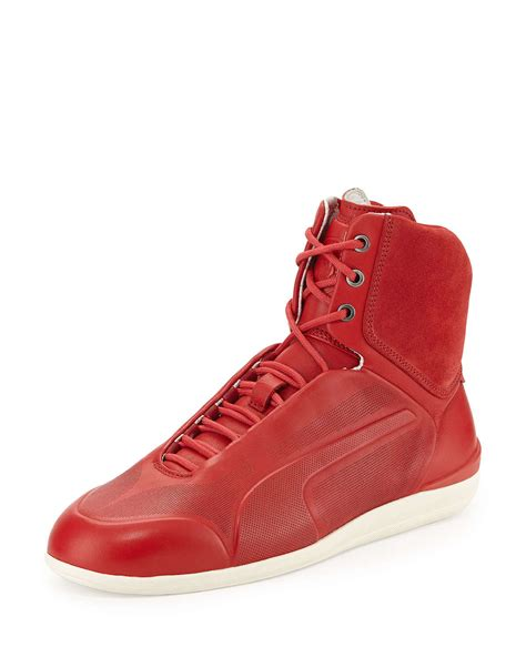 top shoes lyst suede high top sneaker in for