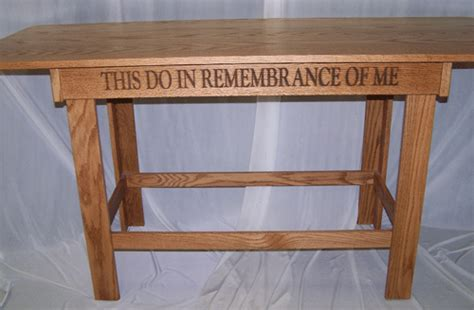 in remembrance of me table pulpit pulpits com acrylic church tables communion