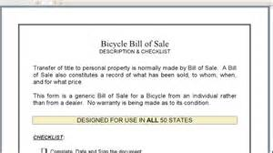 bicycle bill of sale youtube