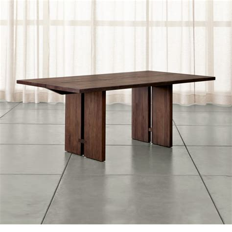 dining room tables crate and barrel monarch shiitake dining tables crate and barrel