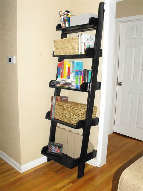 book ladder shelves bookshelf inspiring leaning book shelf leaning shelf