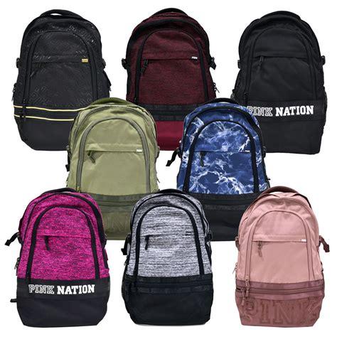 s secret pink collegiate backpack bookbag school bag zip pockets vs new ebay