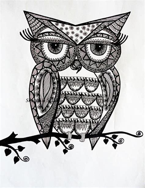 zentangle owl pattern buho zentangle art buscar con google zentangle art