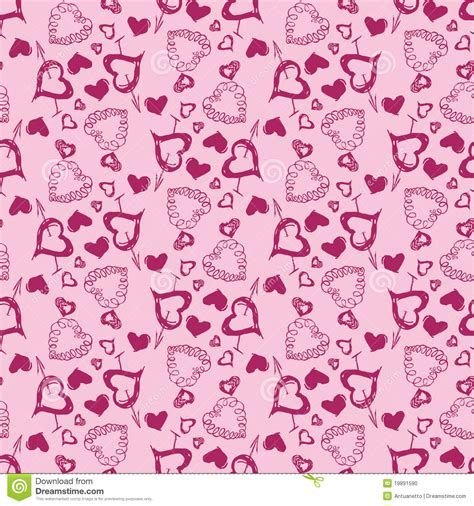 pattern heart vector love heart vector seamless pattern stock vector image