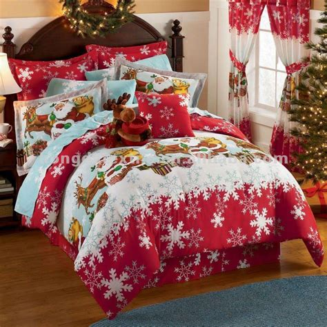 holiday comforters sets 100 cotton printed christmas bedding set buy christmas