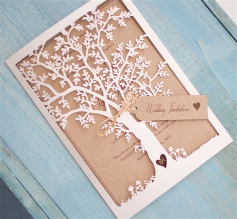 Laser Cut laser cut tree wedding invitations www imgkid the image kid has it