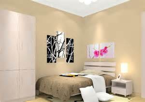 Lavender Black And White Bedroom - interior rendering of bedroom with beige walls 3d house