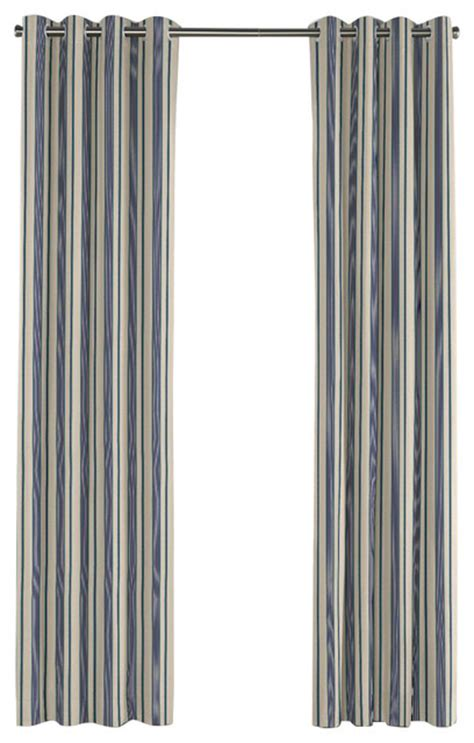 Teal And Gray Curtains Gray Teal And Blue Stripe Grommet Curtain Contemporary Curtains By Loom Decor