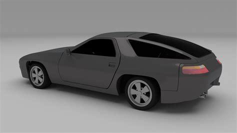 porsche model car porsche 928 3d model obj stl blend dae cgtrader com