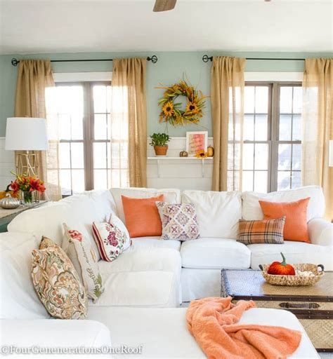 home decorating ideas for fall fall decorating ideas finding fall home tour 2015