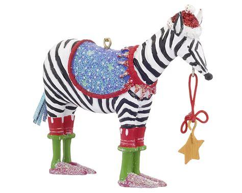 funky zebra christmas ornament zoo animals