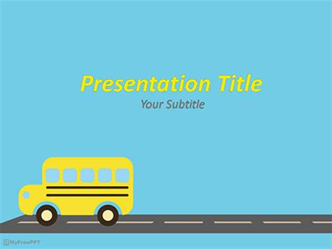school bus powerpoint background pictures to pin on