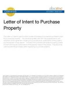 Letter Of Intent To Purchase The Property Resume Purchasing Buyers