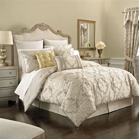 bedding and comforters ava leaf 4 pc comforter set light taupe