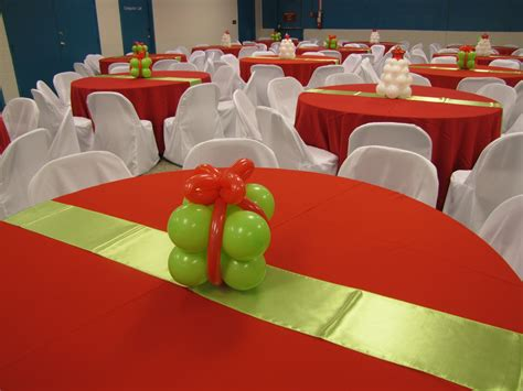 Party people event decorating company lime and red christmas gala plant city florida