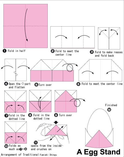 how to make origami easter eggs origami egg stand