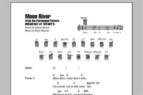 tutorial ukulele moon song moon river sheet music direct
