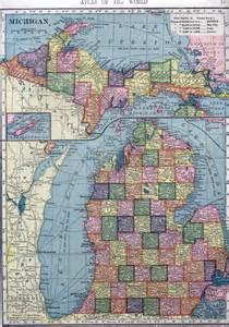 large map of large map of michigan michigan map