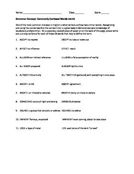 capitalization worksheets high school pdf grammar worksheet on commonly confused words by martin surridge