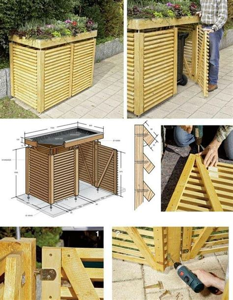 Outdoor Trash Storage Shed by Best 25 Garbage Can Shed Ideas Only On