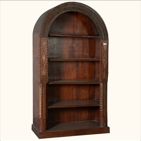 american arched reclaimed wood 5 shelf open display