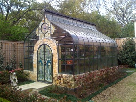 Go Green House Plans by Greenhouse Conservatory Stained Glass Doors Oh My
