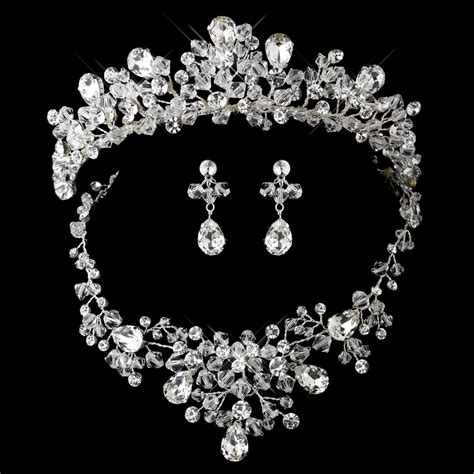 Brautschmuck Set Diadem by Fabulous Swarovski Wedding Tiara And Jewelry Set