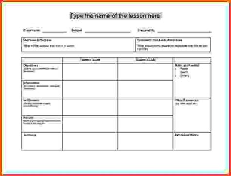 free lesson plan template daily lesson plan template jpg