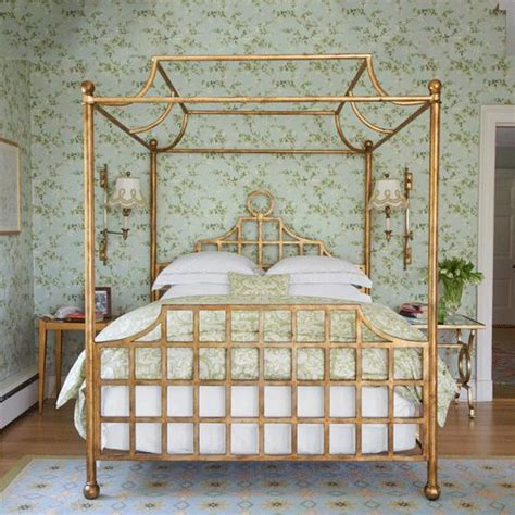 gold bed canopy exquisite gold leaf canopy bed in the home of designer
