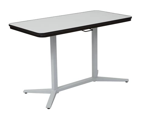 erase table pneumatic white erase table top white base height