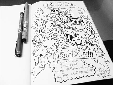 doodle me do sketch the doodles 12 happy birthday to me by sorali04